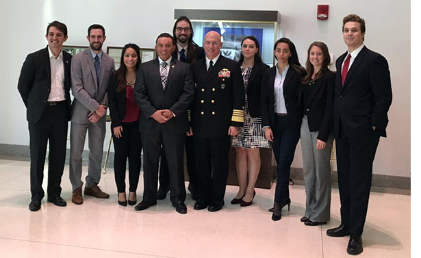 ADM Tidd with Perry Center Interns and Fellows
